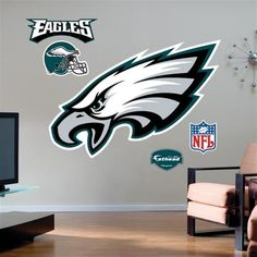 Philadelphia Eagles Team Logo Fathead Wall Sticker