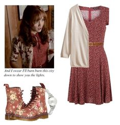 Emma Decody - Bates Motel by shadyannon on Polyvore featuring polyvore fashion style H&M Dr. Martens Ice rag & bone clothing