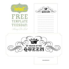 Heirloom Paperie: FREE templates