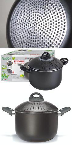 Pensofal 07PEN8631 Platino Bio-Ceramix Non-Stick Family PastaSi Pasta Cooker with Lid, 5-Quart