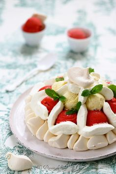 [Miam] Vacherin fraise vanille - Un dejeuner de soleil @EddaOnorato