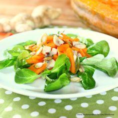 Kürbissalat mit Champignons Salmon Burgers, Cantaloupe, Fruit, Ethnic Recipes, Food, Cooking Recipes, Salmon Patties, Meal, The Fruit