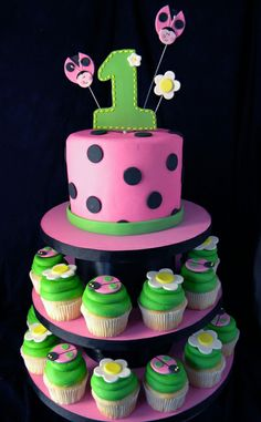 Google Image Result for http://howsweetbakery.com/Album4/images/ladybug_cake_and_cupcakes_jpg.jpg