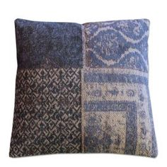 By Boo Cotton Patchwork Throw Pillow