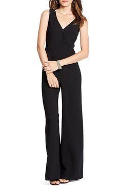 Lauren Ralph Lauren Sleeveless Crepe Wide Leg Jumpsuit