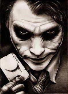 Find images and videos about batman, joker and heath ledger on We Heart It - the app to get lost in what you love. Joker Heath, Der Joker, Joker Art, Comic Books Art, Comic Art, Joker Y Harley Quinn, Joker Pics, Foto Transfer, Joker Wallpapers
