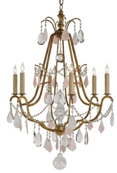 RECEIVED Fairytale Chandelier, #9271  CURREY & CO  QTY:1  Light in Corner
