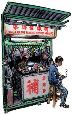 Hong Kong street market people series