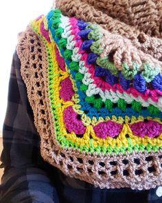 """Sunday Shawl. #crochet #hooker #stylecraftspecialdk #shawl #sundayshawl #mocha #stylecraftspecialdklimitededition"""