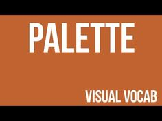 Palette defined - From Goodbye-Art Academy - YouTube