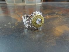 SILVER Fancy Filigree Bullet Ring for the by GunPowderWoman Bullet Jewelry Firearms Guns Hunting Country Girl