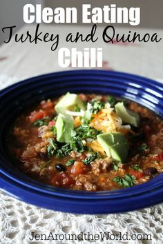 You will not even miss the beef with this flavor packed turkey and quinoa chili recipe. By far, this has been my favorite chilil recipe yet.