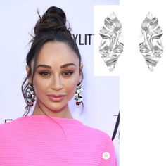 Cara Santana wearing Alexis Bittar earrings at the Daily Front Row Fashion Awards 2019 Bow Earrings, Circle Earrings, Daily Front Row, Veronica Lake, The Emmys, Celebrity Jewelry, Joan Smalls, Sleek Hairstyles, Kate Hudson