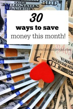 30 ways to save money this month, save money tips, save money quickly