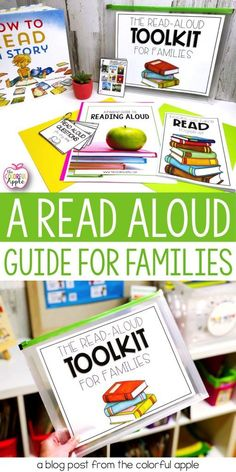 Give parents the tools they need to share books with their child every night. Includes a read aloud guide, discussion questions, book recommendations, a book journal and more! A great resource to give to parents at the end of the school year, at open hou Reading Resources, Reading Strategies, Reading Activities, Teaching Reading, Guided Reading, Teaching Ideas, Literacy Strategies, Reading Games, Reading Art