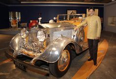Maharaja Mandhatasinh Jadeja stood next to his Rolls-Royce Phantom II 'Star of India' (1934)