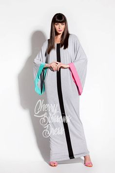 Grey Maxi Dress/Long maxi dres/ Caftan/ Abaya/ Plus size