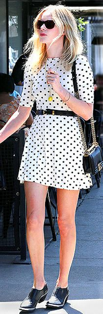 Dress - ASOS Purse - Chanel Shoes - Theyskens' Theory ASOS Skater Dress In Spot Print With Belt THEYSKENS' THEORY Black Andon Ying Booties