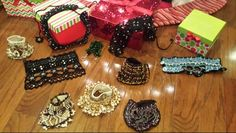 Crocheted bracelets and necklaces with beads and ornaments. Perfect to wear every day or in special moments