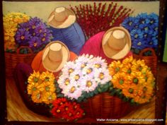 ferias de flores Peruvian Art, Mexican Flowers, Aztec Warrior, Paint Strokes, Mexican Folk Art, Picture Collection, Illustrations, Flower Art, Street Art