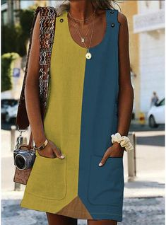 Buy Summer Dresses Summer Dresses For Women at JustFashionNow. Online Shopping Justfashionnow Summer Dresses Floral Dresses Shift Crew Neck Sleeveless Paneled Casual Dresses, The Best Summer Dresses. Discover Fashion Trends at . Types Of Sleeves, Dresses With Sleeves, Sleeveless Dresses, Floral Dresses, Bohemian Dresses, Sheath Dresses, Robes Midi, Long Sleeve Floral Dress, Plain Dress