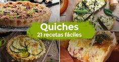 ¡21 recetas de QUICHES!    #Quiches #Quich #QuicheLorraine #RecetasDeQuiches #RecetasFaciles