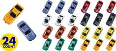 Die-Cast Race Cars 24ct - Party City~for goodie bags?