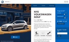 Volkswagen Showroom website by Martin Klausen, via Behance