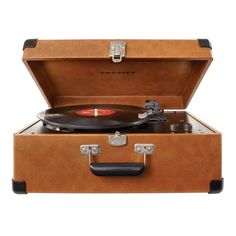 Crosley Keepsake Deluxe USB Turntable, Tan #vinyl #retro