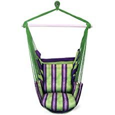 Garden Hammock Hanging Rope Chair Swing Chair Seat With 2 Pillows Travel Camping Garden Hammock, Rope Hammock, Hammock Tent, Outdoor Hammock, Indoor Outdoor, Outdoor Spaces, Garden Picnic, Portable Hammock, Rope Swing