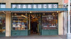 World's coolest Starbucks. Original Starbucks store, Seattle