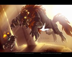 Link vs. Ganon by ~AdoobibullTwin4 on deviantART