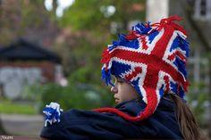 Union Jack Flag Patriot Cap Hat Hipster Wool Children by RoyalHandicrafts on Etsy