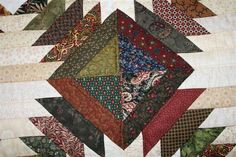handmade quilts | In Stock Pineapple Amish Quilt