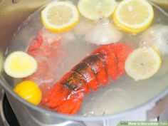 How to Boil Lobster Tails. Lobster is a classic delicacy particularly popular on Northeast coast of America. A cost effective alternative to purchasing live or frozen whole lobsters is to cook just the tails. While lobster tails can also. Boiled Lobster Tail Recipe, Boil Lobster Tail, Baked Lobster Tails, Boiled Lobster Recipes, Poached Lobster, Grilled Lobster, Grilled Fish, Seafood Recipes, Cooking Recipes