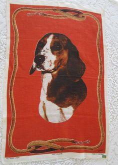 Tea Towel Vintage Ulster Beagle Dog Vintage by VintageLinenGallery