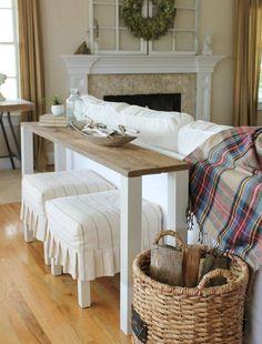 Bettbrücke auch im Wohnzimmer hinter der Couch stellen können