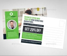 Business Postcard Template PSD InDesign Format Business - Postcard advertising template
