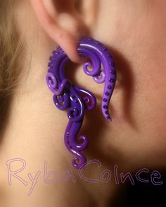 Fake ear tentacle gauge Faux gauge/Gauge by RybaColnce on Etsy