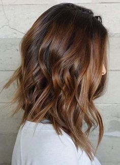 Medium Hair Cuts, Medium Hair Styles, Long Hair Styles, Shaggy Haircuts, Layered Haircuts, Brunette Hair Color With Highlights, Before And After Haircut, Blonde To Brunette Before And After, Pelo Natural