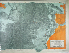 Physiographic diagram of the modern part of Atlantic Ocean by Marie Tharp and Bruce Heezen