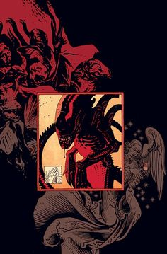 Aliens.  Mignola.  Some things just make too much sense :D  Awesome.