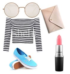 """""""Untitled #49"""" by lenapena2016 on Polyvore featuring Illesteva, Vans, MAC Cosmetics and HarLex"""