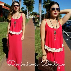 Love this new maxi dress! It's the perfect cruise or beach vacation outfit. Only at Denimianco Boutique SML $40 239-313-7298 to order