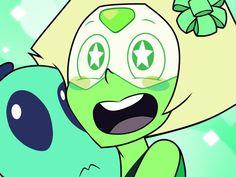 Steven Universe Characters, Steven Universe Funny, Steven Universe Peridot, Universe Images, Universe Art, Cartoon Smile, Cartoon Art, Plant Cartoon, Lapis And Peridot