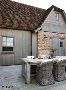 Zou ik ook graag willen een houten wand aan de achterzijde van mijn boerderij.