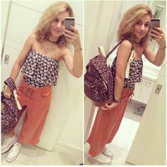 Dujour - BiancaCoimbra is wearing Converse Sneakers, Dress To Pants, Loja Três Swimsuit and Perky Bag