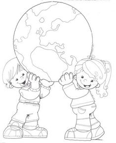 Earth Day Drawings on Earth Day 2019 - 22 April 2019 Earth Day Coloring Pages, Colouring Pages, Coloring Sheets, Adult Coloring, Coloring Books, Cultures Du Monde, Earth Day Crafts, Earth Day Activities, Child Day