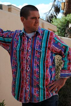 Vintage 1980's Rodeo Wrangler Western Shirt by thecheckeredpast