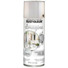 Rustoleum Metallic, Silver Metallic Paint, Metallic Spray Paint, Chrome Spray Paint, Best Spray Paint, Spray Paint Countertops, Metal Net, Glamour Decor, Paint Brush Holders